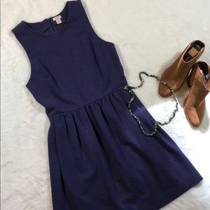 J.Crew blue fit and flare daybreak dress💙